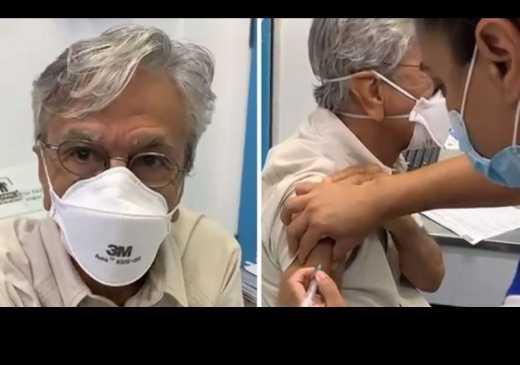 Caetano Veloso � vacinado contra Covid-19